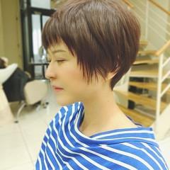 ハイライト ナチュラル ベリーショート ショート ヘアスタイルや髪型の写真・画像