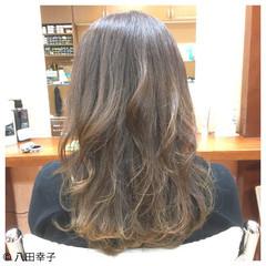 グラデーションカラー セミロング コンサバ アッシュ ヘアスタイルや髪型の写真・画像