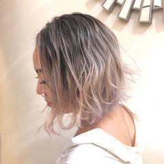 ユニコーンカラー バレイヤージュ グラデーションカラー インナーカラー ヘアスタイルや髪型の写真・画像