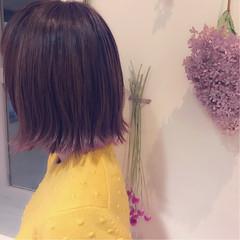グラデーションカラー ボブ ストリート ピンク ヘアスタイルや髪型の写真・画像