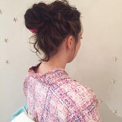 ショート ガーリー セミロング 簡単ヘアアレンジ ヘアスタイルや髪型の写真・画像