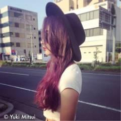 ピンク モード ストリート グラデーションカラー ヘアスタイルや髪型の写真・画像
