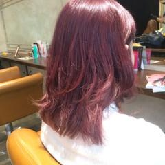 ピンク グラデーションカラー ゆるふわ ガーリー ヘアスタイルや髪型の写真・画像