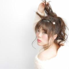ピュア 愛され モテ髪 ヘアアレンジ ヘアスタイルや髪型の写真・画像