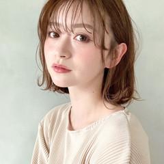 アンニュイほつれヘア ボブ 大人かわいい 外ハネボブ ヘアスタイルや髪型の写真・画像