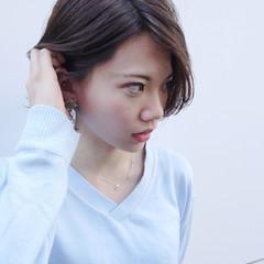 エフォートレス デート フェミニン 小顔 ヘアスタイルや髪型の写真・画像