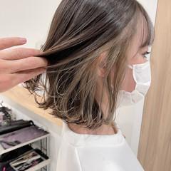 大人ハイライト インナーカラー ナチュラル ハイライト ヘアスタイルや髪型の写真・画像