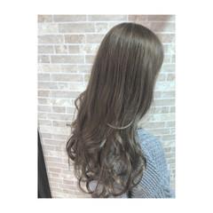 アッシュ 春 ガーリー 透明感 ヘアスタイルや髪型の写真・画像