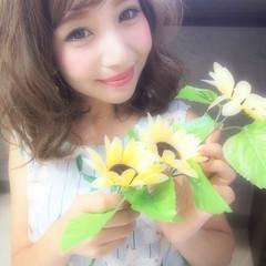 フェミニン ヘアアレンジ 夏 外国人風 ヘアスタイルや髪型の写真・画像