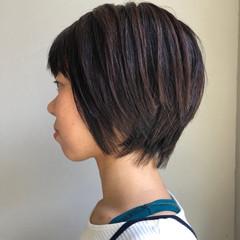 ショートボブ ショート 大人女子 ベージュ ヘアスタイルや髪型の写真・画像