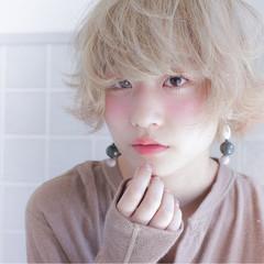 おフェロ ショートボブ ショート 透明感 ヘアスタイルや髪型の写真・画像