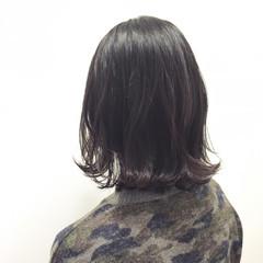 暗髪 外ハネ 黒髪 ボブ ヘアスタイルや髪型の写真・画像