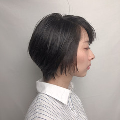 ミニボブ ショートボブ ショート 切りっぱなしボブ ヘアスタイルや髪型の写真・画像