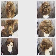 編み込み くるりんぱ ヘアピン 簡単ヘアアレンジ ヘアスタイルや髪型の写真・画像