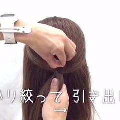 簡単ヘアアレンジ ミディアム グラデーションカラー ゆるふわ ヘアスタイルや髪型の写真・画像