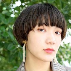 色気 ショート 黒髪 アッシュ ヘアスタイルや髪型の写真・画像