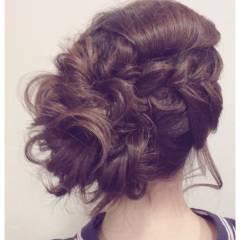 簡単ヘアアレンジ ナチュラル 夏 ヘアアレンジ ヘアスタイルや髪型の写真・画像