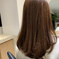 ロング デジタルパーマ ナチュラル 毛先パーマ ヘアスタイルや髪型の写真・画像