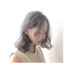 ストリート グラデーションカラー 外国人風 ミディアム ヘアスタイルや髪型の写真・画像