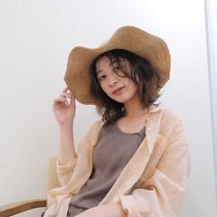 ミディアム ウルフカット オレンジブラウン ピンクブラウン ヘアスタイルや髪型の写真・画像