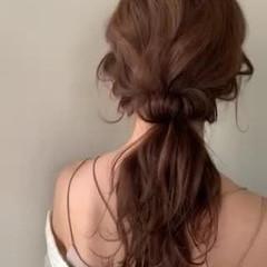 ヘアアレンジ 結婚式ヘアアレンジ エレガント ふわふわヘアアレンジ ヘアスタイルや髪型の写真・画像
