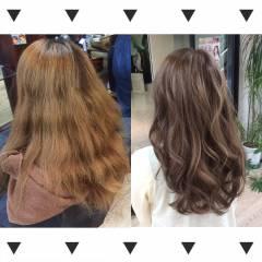 ハイトーン ロング ハイライト ブリーチ ヘアスタイルや髪型の写真・画像