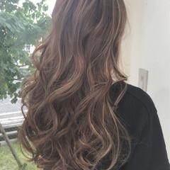 透明感 ロング ヘアアレンジ ストリート ヘアスタイルや髪型の写真・画像