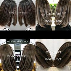 ハイライト ナチュラル 派手髪 グレージュ ヘアスタイルや髪型の写真・画像
