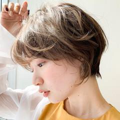 ショート ゆるふわパーマ ショートボブ ショートヘア ヘアスタイルや髪型の写真・画像