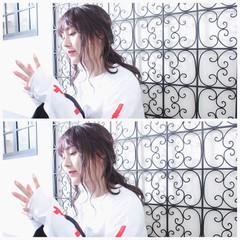 雨の日 簡単ヘアアレンジ 夏 ナチュラル ヘアスタイルや髪型の写真・画像