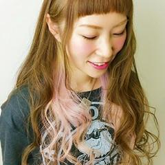 大人かわいい ハイトーン 透明感 ピンク ヘアスタイルや髪型の写真・画像