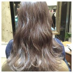 ロング ウェットヘア アッシュ 春 ヘアスタイルや髪型の写真・画像