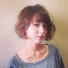 抜け感 フェミニン モード ウェーブ ヘアスタイルや髪型の写真・画像
