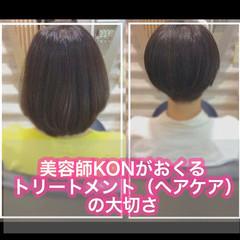 髪質改善トリートメント 切りっぱなしボブ ショート ショートボブ ヘアスタイルや髪型の写真・画像