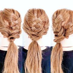 ダウンスタイル ヘアセット セルフヘアアレンジ ヘアアレンジ ヘアスタイルや髪型の写真・画像