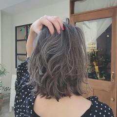 秋 ハイライト 上品 透明感 ヘアスタイルや髪型の写真・画像