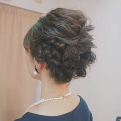 結婚式 編み込み くるりんぱ ボブ ヘアスタイルや髪型の写真・画像