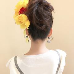 フェミニン ロング 簡単ヘアアレンジ 結婚式 ヘアスタイルや髪型の写真・画像