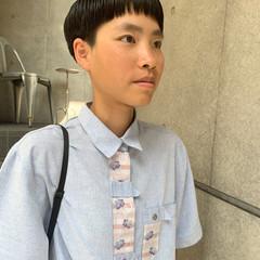モード ショートヘア インナーカラー ミニボブ ヘアスタイルや髪型の写真・画像