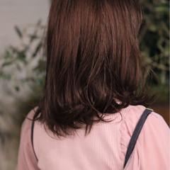 ミディアム 外ハネ ロブ スポーツ ヘアスタイルや髪型の写真・画像