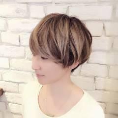 ハイトーン ショート グラデーションカラー ストリート ヘアスタイルや髪型の写真・画像
