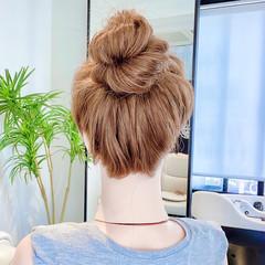 ヘアアレンジ フェミニン セルフヘアアレンジ くるりんぱ ヘアスタイルや髪型の写真・画像