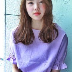 小顔ヘア 小顔 ゆるふわパーマ ナチュラル ヘアスタイルや髪型の写真・画像