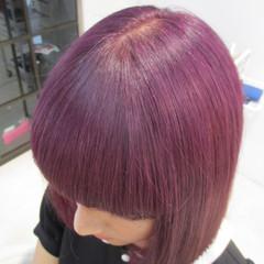 パープル セミロング モード イルミナカラー ヘアスタイルや髪型の写真・画像