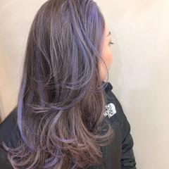ハイトーンカラー ハイライト バレイヤージュ ストリート ヘアスタイルや髪型の写真・画像