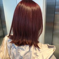 ピンク ガーリー ピンクバイオレット ダブルカラー ヘアスタイルや髪型の写真・画像