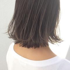 簡単ヘアアレンジ 外ハネ ハイライト ボブ ヘアスタイルや髪型の写真・画像