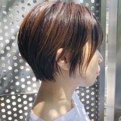 ナチュラル パーマ ショート 黒髪 ヘアスタイルや髪型の写真・画像