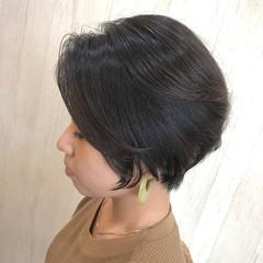 大人可愛い ショート ショートヘア ナチュラル ヘアスタイルや髪型の写真・画像