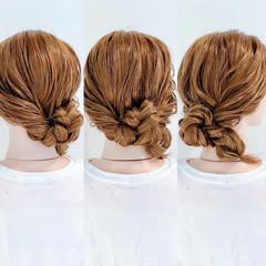 まとめ髪 ヘアアレンジ ダウンスタイル フェミニン ヘアスタイルや髪型の写真・画像